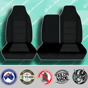 Mitsubishi Fuso Canter Black High Quality Jacquard 3 4 Bench Truck Seat Covers