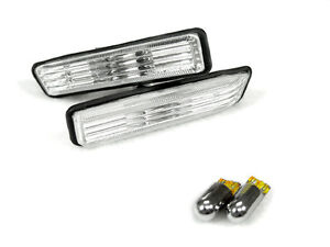 Depo Clear Side Marker Light Chrome Amber Bulbs For 1997 1999 Bmw E36 3 Series