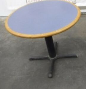 Restaurant Equipment 36 Table Top With Base Wedgewood Blue Formica