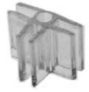 Store Display Fixtures 100 New 3 way 3 16 Clear Lexan Glass Connectors