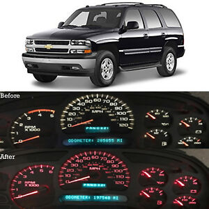 Red Led Dash Cluster Instrument Gauge Replacement Light Kit Fits 2000 2002 Tahoe