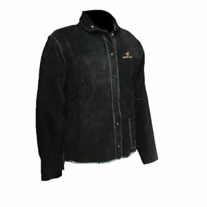 Welding Black Leather Welding Jacket Sparcweld Or Arclabs Logo