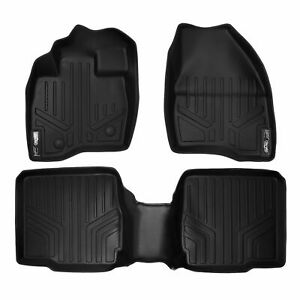 2015 2017 Ford Explorer W 2nd Row Console Black 1st 2nd Row Floor Mats