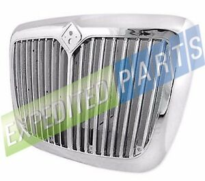 Chrome Front Grille W Bug Screen For International Prostar 08 16 pick Up Only