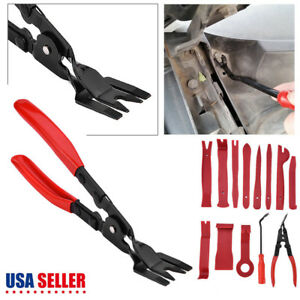 13pc Trim Removal Pry Bar Tool Panel Door Clip Open Remover Kit Uphol