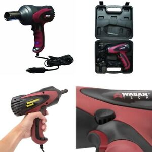 Premium 1 2 Electric Impact Wrench Gun Kit 12v With Sockets And Case Power Tool