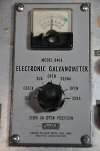 Fluke Electronic Galvanometer Test Equipment Model 840a Measure Meter