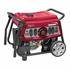 Powermate 7500 Watt Electric Start Dual Fuel Generator 49 state csa 6958