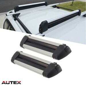 Set 22 Inch Universal Ski Snowboard Racks Top Mounted Carrier Aluminum