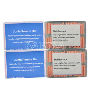 5 Boxes Denjoy Dental Gutta Percha Bar 100pcs box For Obturation Endo System New