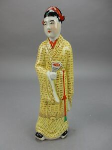 Antique Chinese Famille Verte Statue 12 China Mark Circa 1900
