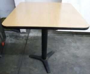 Restaurant Equipment 29 Standard Height Table Top With Base 36 X 36 Tan
