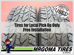 2 Tacoma Trail Radial At Lt285 75 16 Used Tires 13 32 No Patch 1225 119s 2857516