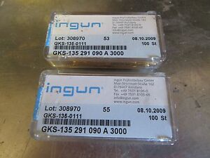 G103 Ingun Gks 135 0111 Gold Test Probe Pins Lot Of 2 Germany