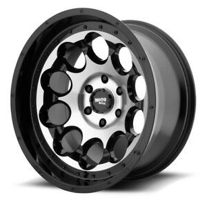20 Moto Metal Mo990 Rotary Black Machined Wheel 20x12 8x6 5 44mm Lifted Ram