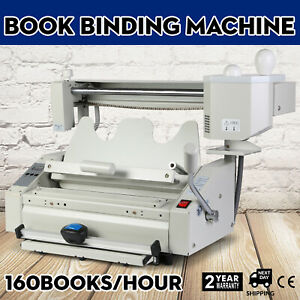 New Hot Melt Glue Book Binder Perfect Binding Machine 110v