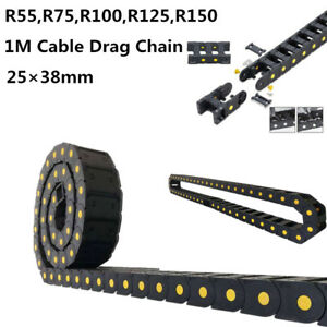 R55 r150 Cable Drag Chain Wire Carrier Nylon66 Bridge Open Type 1m 40 25 38mm