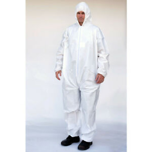 Alternative To Tyvek Ty127 Case 25 Garments White Microporous Coveralls Sm 5x
