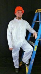 Alternative To Tyvek Ty120 Case 25 Garments White Microporous Coveralls Sm 5x
