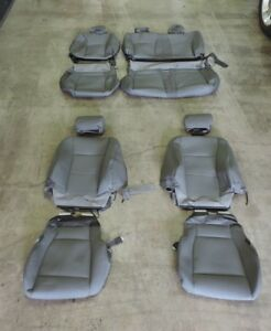 2015 2017 Ford F 150 F150 Crew Cab Only Gray Oem Cloth Seat Covers Set 55