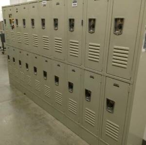 Bank Of 24 door School Work Home Locker Lockers