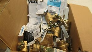 10 New 1 Watts Ball Valve Lffbv 3c lead Free Brass Full Port Threaded b3