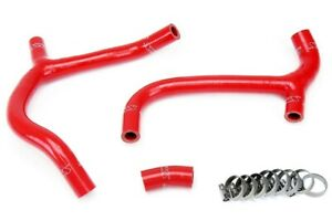 Hps Red Silicone Bike Y Radiator Hose For Honda 09 12 Crf450r Coolant Crf 450r