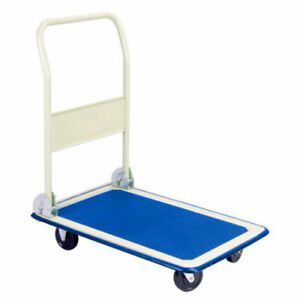 300 lb Capacity Folding Platform Hand Truck Four Wheeled Dolly Moving