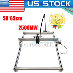 50 65cm 2500mw 2 5w Desktop Laser Cutting engraving Machine Diy Picture Marking
