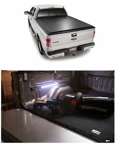 Truxedo Deuce Tonneau Black Vinyl Cover Access 18 Motion Led Light For F 150