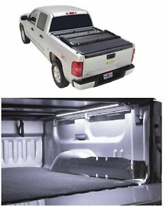 Truxedo Deuce Black Tonneau Vinyl Cover Access 39 Led Light For Sierra 1500