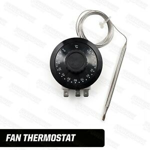 Adjustable Electric Cooling Fan Thermostat Switch Capillary