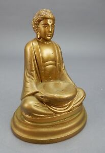 Hand Painted 1939 Chalk Ware Buddha Figurine Serenity Incense Burner 6