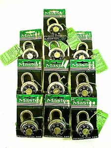 Vintage Lot Of 10 Master Lock 1500d Dial Combination Lock New In Packages