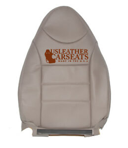 01 Ford Escape Driver Side Lean Back Synthetic Leather Seat Cover Tan