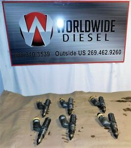 Cat 3406e C15 Diesel Engine Fuel Injectors Set Of 6 Good Takout Injectors