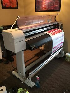 Mutoh Valuejet 1304 Large Format Color Printer New Print Head Take Up System