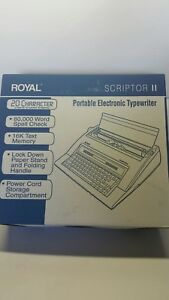 Royal Scriptor Ii Electronic Portable Typewriter Pre owned