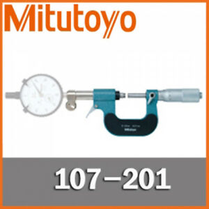 Mitutoyo 107 201 Vernier Outside Micrometer 0 25 Mm Dial Indicator