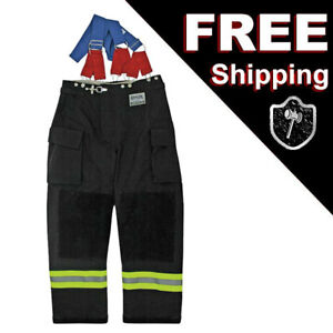Morning Pride Rng 240d Turnout Fireman Pants Black L Large 40 In X 30 In