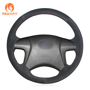 Black Suede Steering Wheel Cover Wrap For Toyota Highlander 2008 2014 Camry