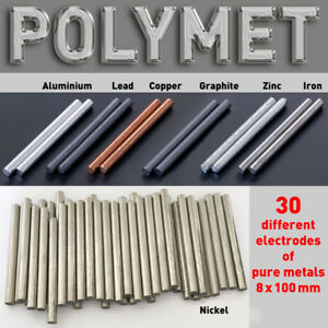 Pure Metal Round Bar for Electroplating min. 99.9 Anode Dia. 8 x 100mm Element $8.60