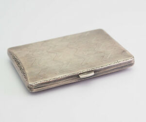 Antique Sterling Silver Cigarette Or Business Card Box Holder