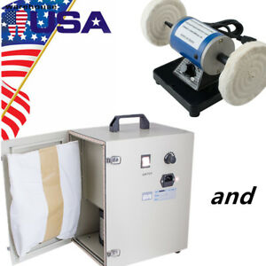 Digital Dental Dust Collector Vacuum Cleaner And Polishing Machine Lathe Desk Us