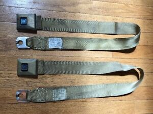 69 1969 Gm A Body Cutlass 442 Hamill Seat Belts Gold