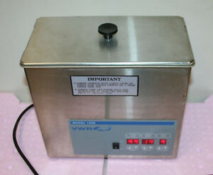Vwr Scientific Aquasonic 150d Digital Ultrasonic Cleaner working