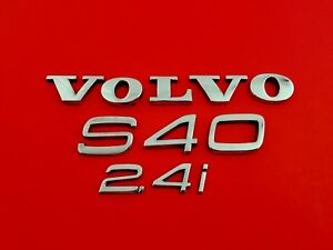 2004 Volvo S40 2 4i Rear Lid Chrome Emblem Logo Badge Set Oem 05 06 07 09 10 11