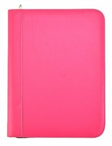 Arpan Pink Deluxe A4 Zipped Conference Folder With Calculator Pad Executive
