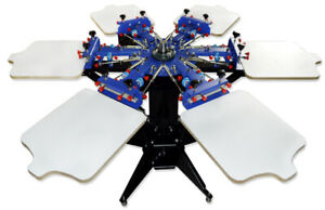Silk Screen Printing Equipment 6 Color Screen Printing Press All in one Machine
