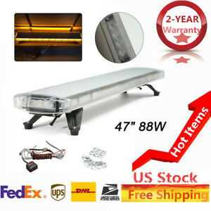 Hot 47 88 Led Work Light Bar Beacon Flash Warning Lampe Response Strobe Amber